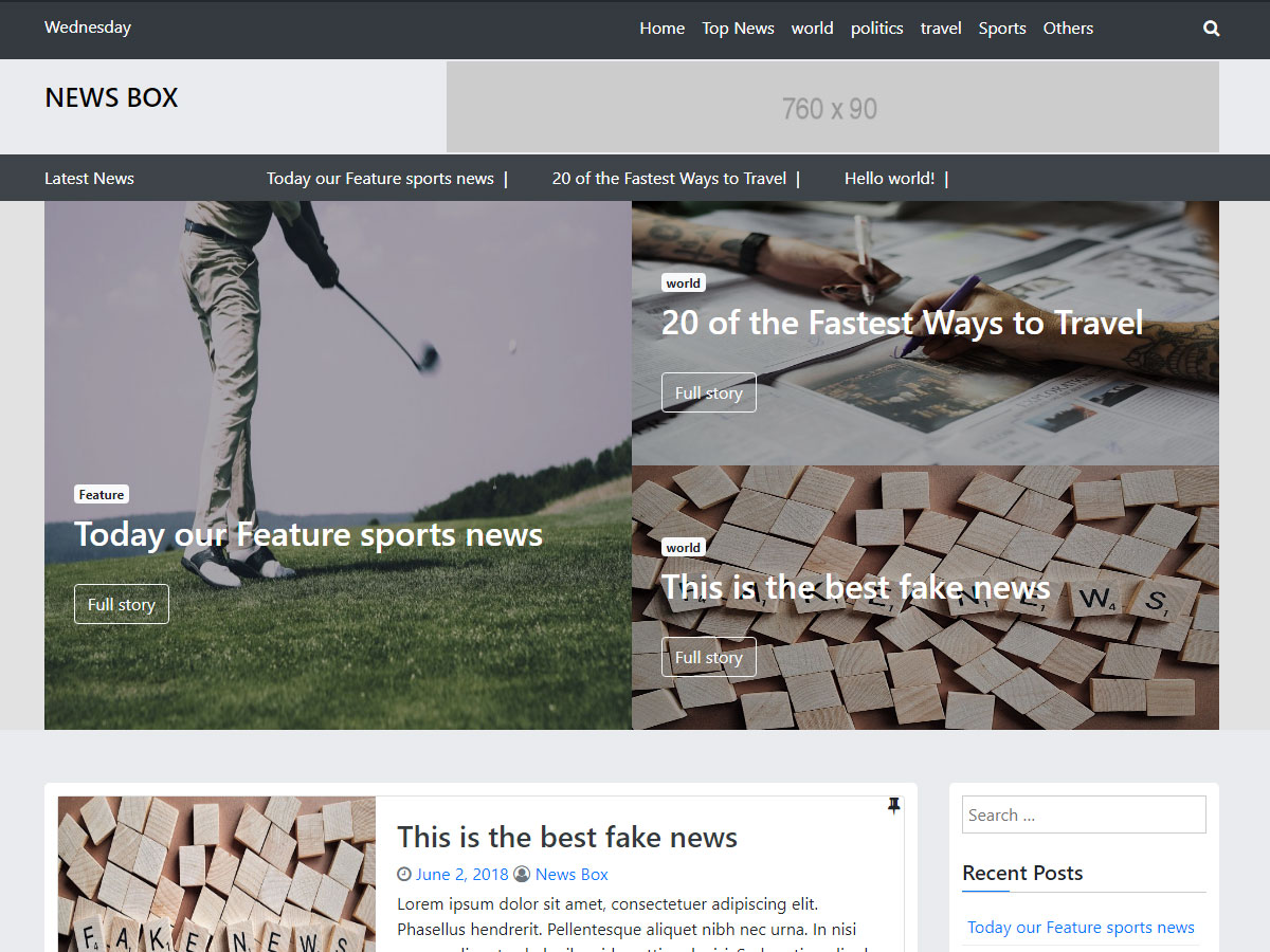News Box WordPress theme