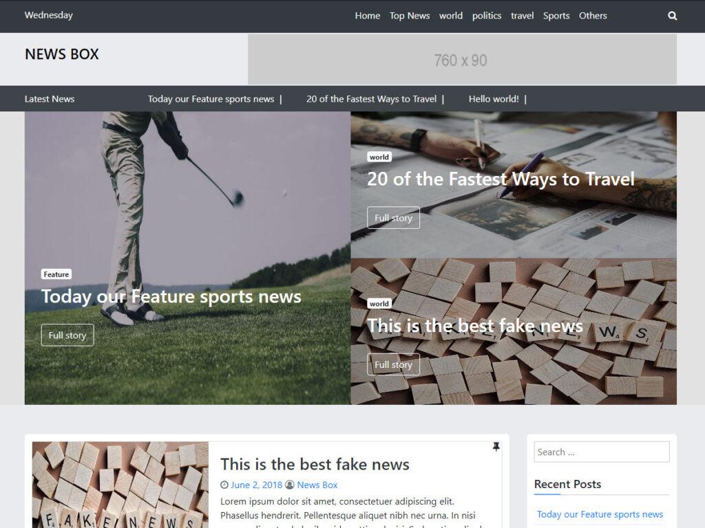 News Box WordPress theme