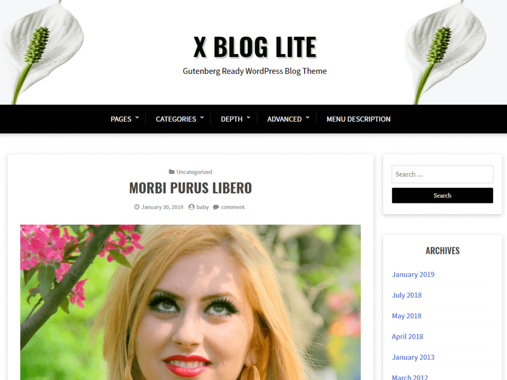Xblog lite WordPress theme