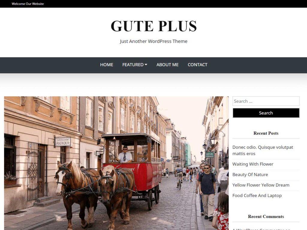 Gute Plus WordPress Theme