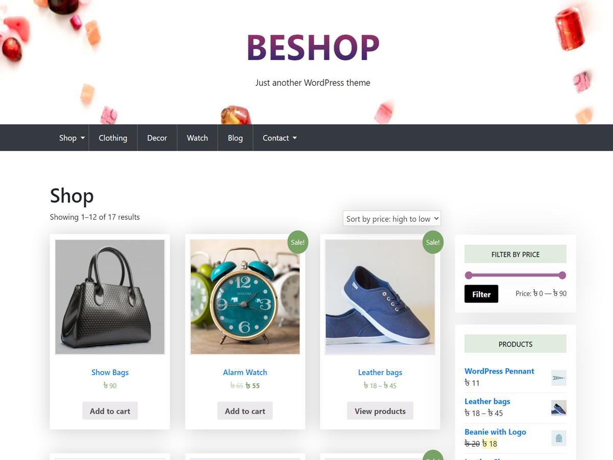BeShop WordPress Theme