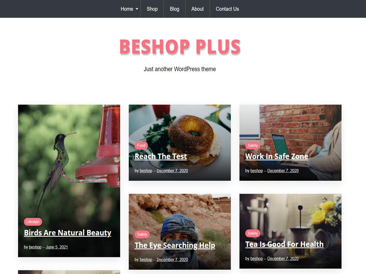 BeShop Plus WordPress Theme
